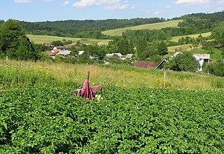 Vyšný Komárnik Village in Slovakia