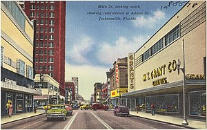 W. T. Grant - W.T. Grant store (on the right) in Jacksonville, Florida.