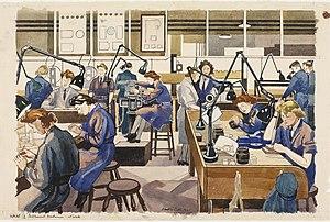 Dorothy Coke - WAAF Instrument Mechanics at Work (1941) (ArtIWM.ART LD 1298)