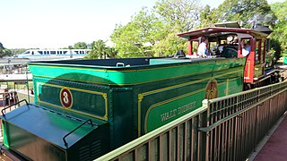 Detailed listing of all rail transport installations in properties owned or licensed by Walt Disney Parks and Resorts.