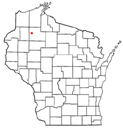 Location of Bass Lake, Washburn County, Wisconsin