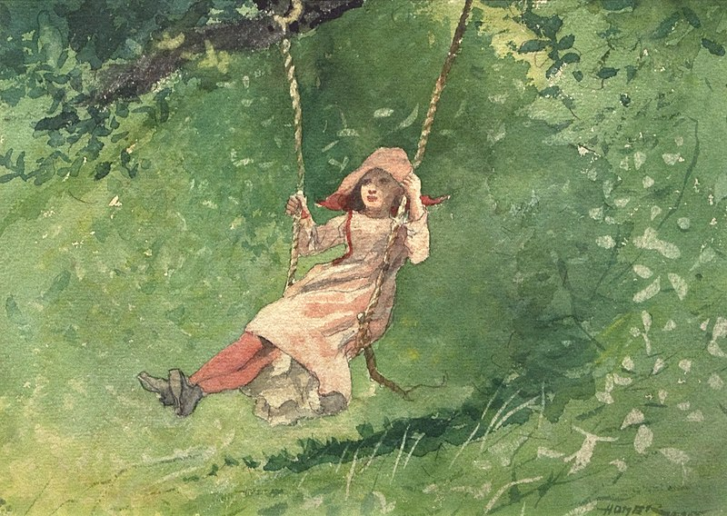File:WLA hmaa Winslow Homer Girl on a Swing.jpg