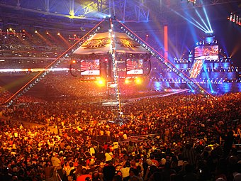 An attendance record setting 72,219 fans at the State Farm Stadium for WrestleMania XXVI WMXXVIlive.jpg