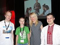 WM UA members with Lila Tretikov.JPG