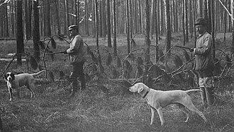 William Rush Merriam - Merriam hunting with Horace Thompson.