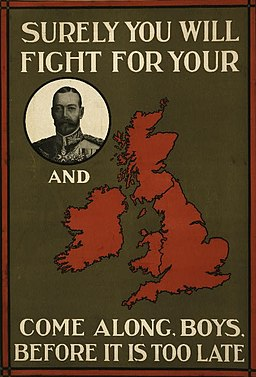 WWI recruitment poster with rebus