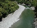 Waiohine River from swing bridge.jpg