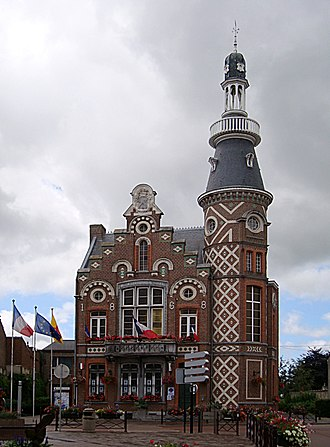 Wambrechies - Image: Wambrechies hotel de ville