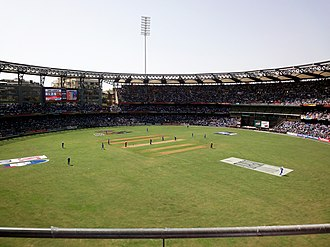 Wankhede Stadium - Wankhede Stadium during the first innings of the 2011 Cricket World Cup Final between Sri Lanka and India