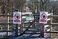 Warning notices and gate - Hensol Forest - geograph.org.uk - 2262385.jpg