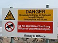 Warning sign, Mappleton - geograph.org.uk - 269710.jpg