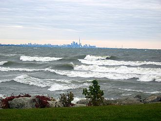 Lake Ontario - Looking east across Lake Ontario to Toronto