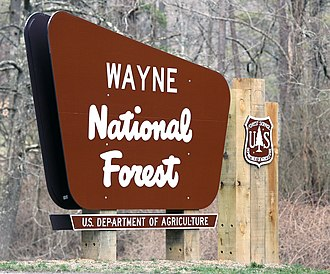 Wayne National Forest - Welcome Sign for Wayne National Forest