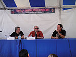 File:WeHo Book Fair 2010 - Steve Niles, Mike Mignola, and Hans Rodionoff at the HP Lovecraft and the Horror of Comics panel (5028032747).jpg
