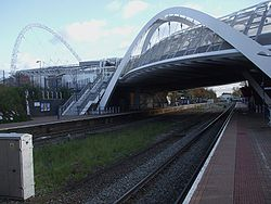 Wembley Stadium stn look east.JPG