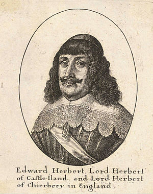 Edward Herbert, 1st Baron Herbert of Cherbury - Lord Herbert of Cherbury.