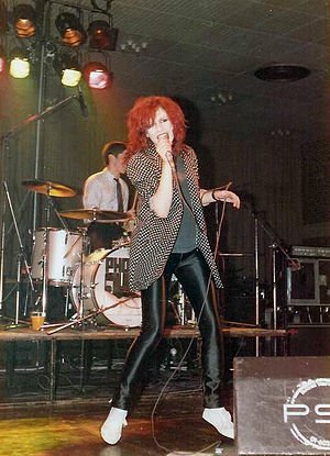 The Photos - Wendy Wu performing with The Photos, 1980