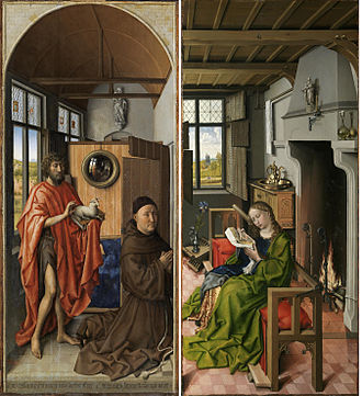 The Werl Triptych - The two surviving wings of The Werl Altarpiece, 1438