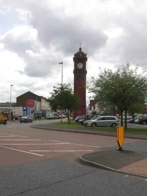 West Bromwich, clock tower (geograph 1346706)