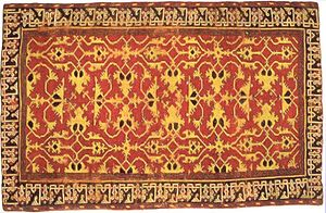Lotto carpet - Western Anatolia knotted wool 'Lotto carpet', 16th century, Saint Louis Art Museum.