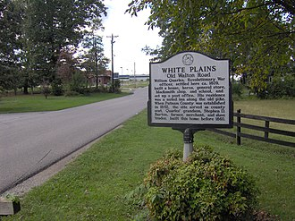 White Plains (Cookeville, Tennessee) - THC marker along Old Walton Road