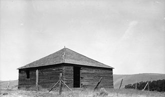 Fort Simcoe - Fort Simcoe blockhouse, ca. 1930s (HABS archives)