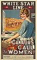 White Star Line, appel aux femmes lancé par le Canada. Affiche d'une entreprise d'expédition britannique invitan... - 35146258344.jpg