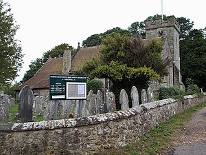 Whitwell, Isle of Wight - Whitwell parish church, with its unusual dedication to St Rhadegund