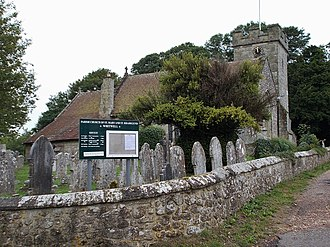 Whitwell, Isle of Wight - Whitwell parish church, with its unusual dedication to St Rhadegund