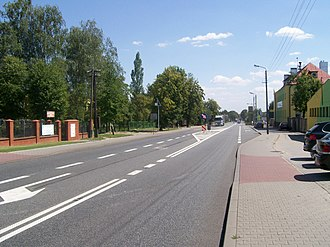 National road 8 (Poland) - Image: Wielun DK8 Traugutta