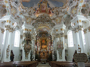 Dominikus Zimmermann - Interior of Wies Church, Steingaden, Germany