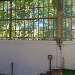 Wiki Loves Art --- Musée Royal de l'Armée et de l'Histoire Militaire, Hall de l'air, détail de la verrière.jpg
