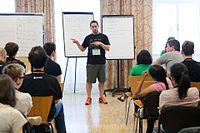 Wikimedia Hackathon Vienna 2017-05-19 Mentoring Program Introduction 032.jpg