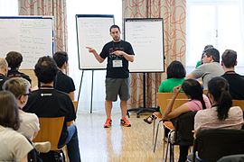 Wikimedia Hackathon Vienna 2017-05-19 Mentoring Program Introduction 032.jpg