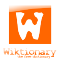 Wiktionary logo orange YoungStyle! 2.png