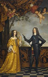 Gerrit van Honthorst: Prince Wilhelm II of Orange and Princess Maria Henrietta Stuart, oil on canvas, 1647