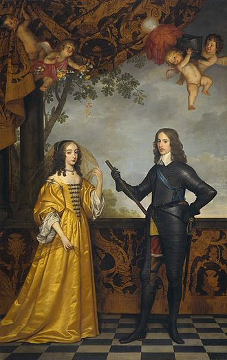 First Stadtholderless Period - Willem II, prince of Orange, and his wife Maria Stuart (by Gerard van Honthorst, 1652)