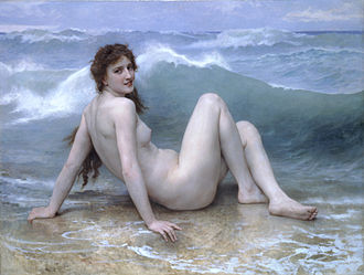William-Adolphe Bouguereau - The Wave (1896)