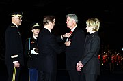 William S. Cohen presents President Clinton the Department of Defense Medal for Distinguished Public Service