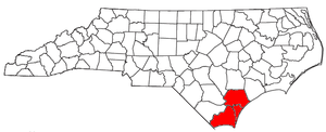 Cape Fear (region) - Location of the Wilmington Metropolitan Statistical Area in North Carolina before Brunswick County was switched to the Myrtle Beach Metro