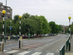 Stonebridge, London - Winchlesea Road, Stonebridge. The trees on the left have been protected by a Tree Preservation Order