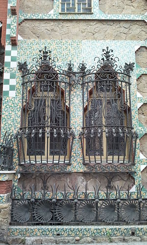 Casa Vicens - Iron windows of Casa Vicens