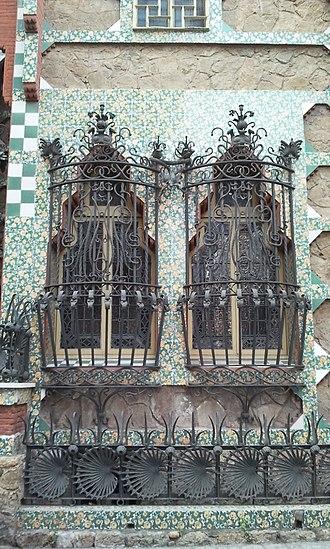 Casa Vicens - Iron windows of Casa Vicens