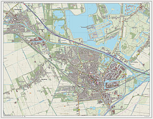 Winschoten - Topographic map of Winschoten, June 2014