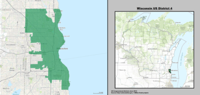 Wisconsins Congressional Districts Wikipedia - Boundary map for wisconsin 2nd district us house of representatives