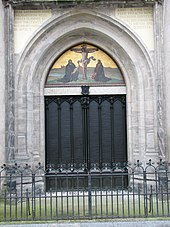 Martin Luther Wedding Band 49 Lovely Door of All Saints