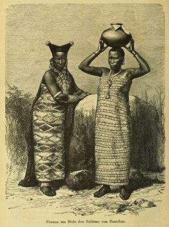 Barghash bin Said of Zanzibar - Women at the Court of the Sultan of Zanzibar, 1880s
