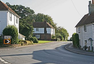 Rolvenden - Image: Wooden Fronted Houses in Rolvenden geograph.org.uk 237925