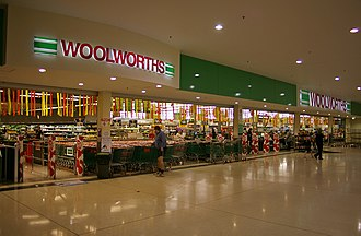 Woolworths Supermarkets - A Woolworths supermarket, before rebranding, located in the Wagga Wagga Marketplace