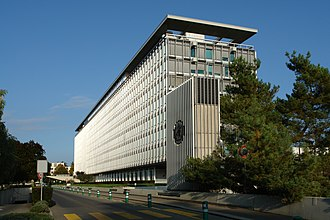 Health policy - The headquarters of the World Health Organization in Geneva, Switzerland.